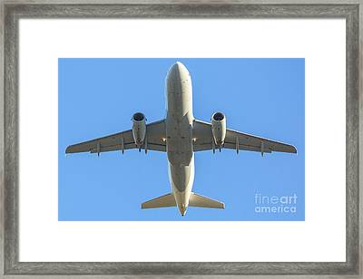 Airplane Isolated In The Sky Framed Print