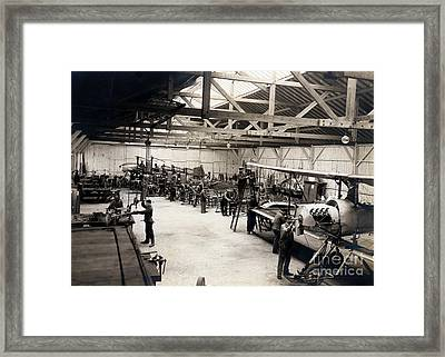 Airplane Manufacturing  Framed Print