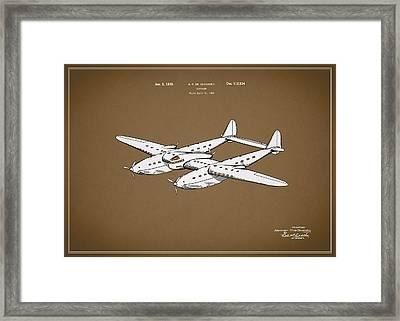 Airplane Patent 1939 Framed Print by Mark Rogan