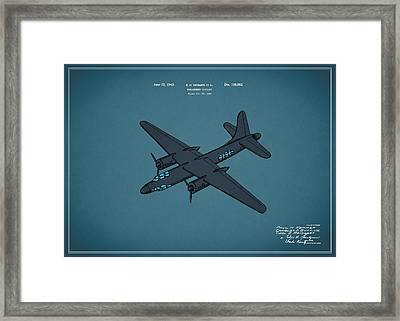 Airplane Patent 1943 Framed Print by Mark Rogan