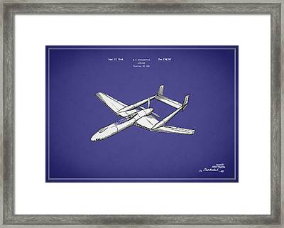 Airplane Patent 1944 Framed Print by Mark Rogan