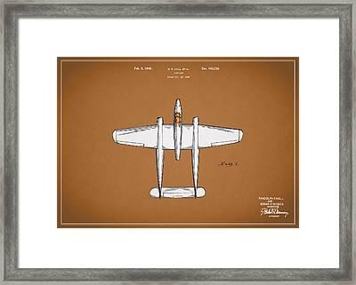 Airplane Patent 1946 Framed Print by Mark Rogan