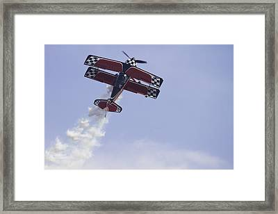 Airplane Performing Stunts At Airshow Photo Poster Print Framed Print by Keith Webber Jr