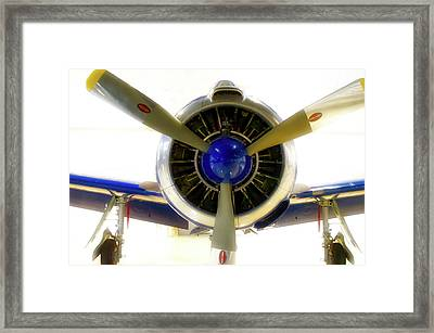 Airplane Propeller And Engine T28 Trojan 01 Framed Print