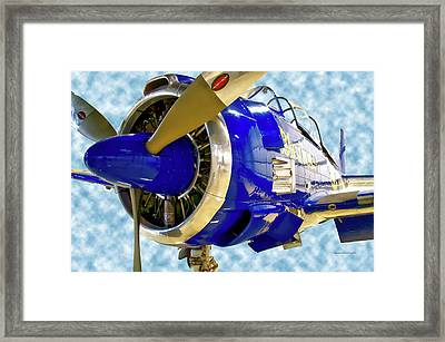 Airplane Propeller And Engine T28 Trojan 02 Framed Print