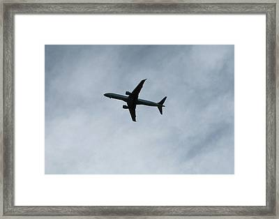 Airplane Silhouette Framed Print
