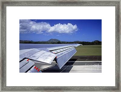 Airplane Taking Off Framed Print