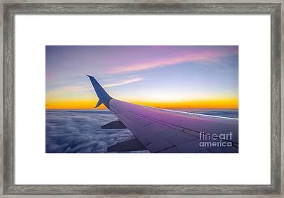 Airplane Window Framed Print