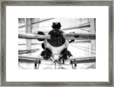 Airplane Wooden Propeller And Engine Pt 22 Recruit 02 Bw Framed Print
