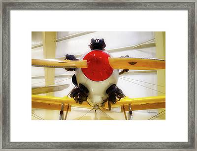 Airplane Wooden Propeller And Engine Pt 22 Recruit 02 Framed Print