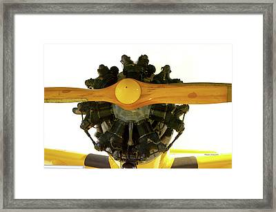 Airplane Wooden Propeller And Engine Timm N2t-1 Tutor Framed Print