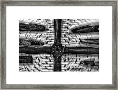 Airplane Wooden Propellers Bw 02 Framed Print