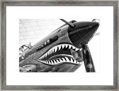 Airplanes Flying Tigers Propeller Bw Framed Print