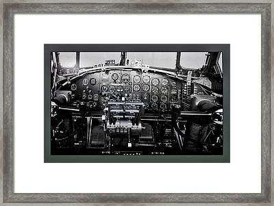 Airplanes Military B 17b Instrument Panel Framed Print