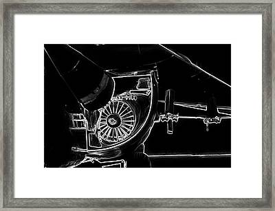 Airplanes Military F111a Aardvark Jet Engine Intake Bw Framed Print by Thomas Woolworth