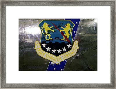Airplanes Military Peace Through Strength Decal Framed Print