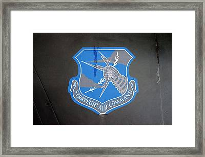 Airplanes Military Strategic Air Command Blue Decal Framed Print