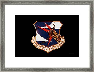 Airplanes Military Strategic Air Command Decal Framed Print