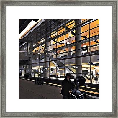 Airport 1.30am Framed Print