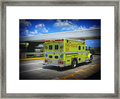 Airport Ambulance Framed Print by RKAB Works
