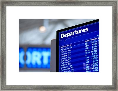 Airport Departure Board Framed Print by Amy Cicconi