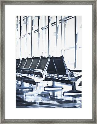 Airport Departure Seating Framed Print by Dave & Les Jacobs