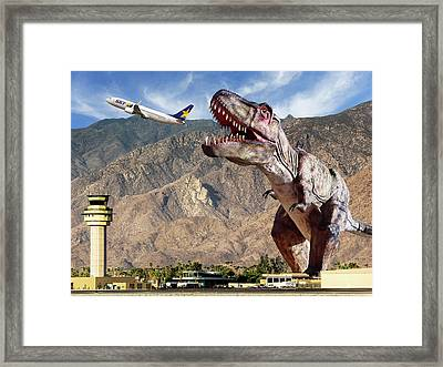 Airport Snack Bar Plane Food Framed Print by William Dey