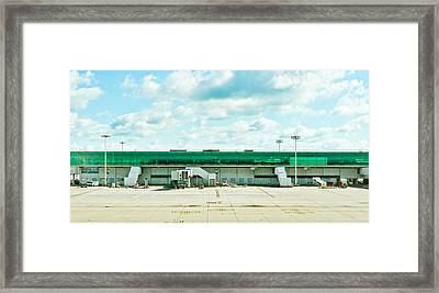 Airport Terminal Framed Print by Tom Gowanlock