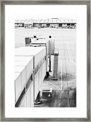 Airport Walkway Framed Print by Tom Gowanlock