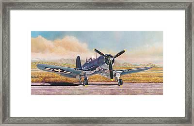 Airshow Corsair Framed Print