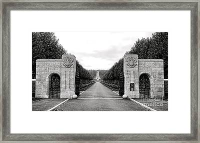 Aisne Marne American Cemetery  Framed Print