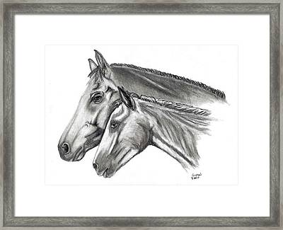 Aj And Candy Framed Print by Crystal Suppes