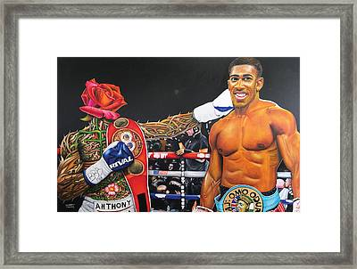 Aj Omo Oduduwa The World Champion Framed Print
