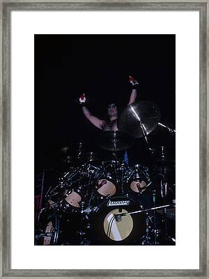 A.j. Pero Of Twisted Sister Framed Print by Rich Fuscia