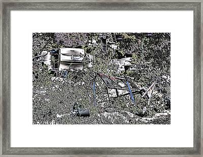Aj Trash Art 7 Framed Print by Sharon Broucek