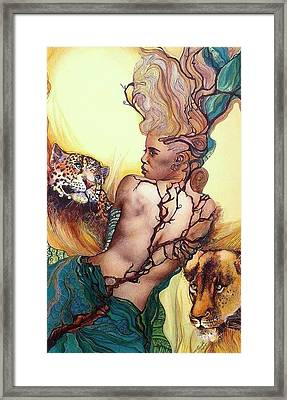 Daughter Of The Wilds Framed Print