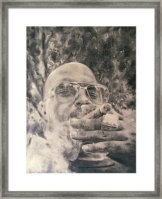 Ajamu Kojo Framed Print by Adrienne Martino