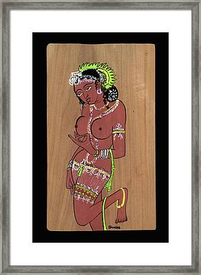 Ajanta Cave Beauty  Framed Print