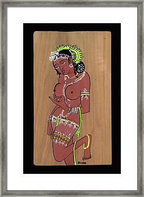 Ajanta Cave Beauty  Framed Print by Suhas Tavkar