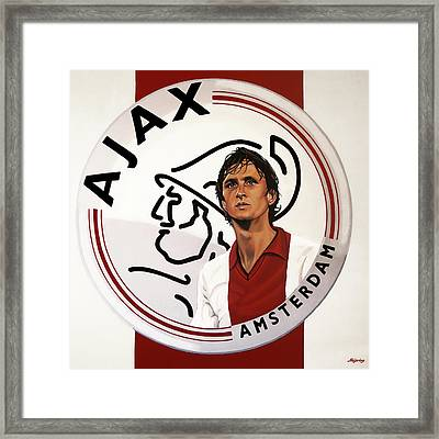 Ajax Amsterdam Painting Framed Print by Paul Meijering
