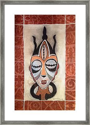 Aje Mask Framed Print
