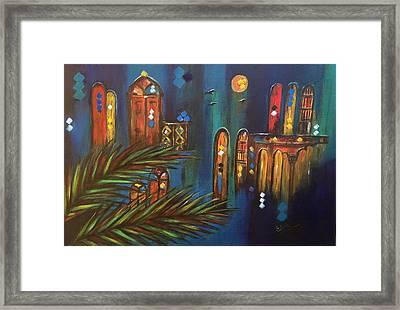 Good Evening Baghdad Framed Print by Siran Ajel
