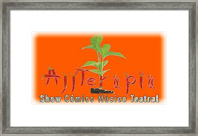 Ajiterapia T-shirt Framed Print