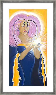 Ajna Third Chakra Goddess Framed Print by Divinity MonSun Chan