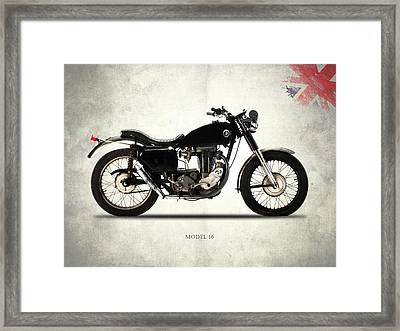 Ajs Model 16 Trials Framed Print by Mark Rogan