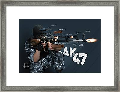 Ak-47 Infographic Framed Print