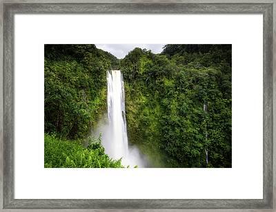 Framed Print featuring the photograph Akaka Falls by Ryan Manuel