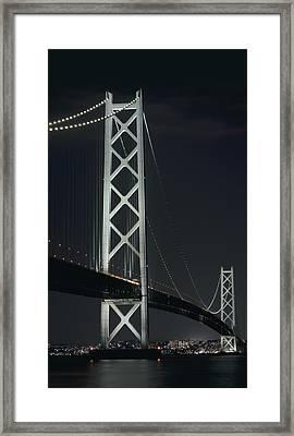 Akashi Kaikyo Suspension Bridge - Japan Framed Print