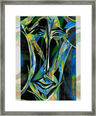 Akhnaton Framed Print by Noredin Morgan