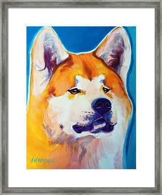 Akita - Apricot Framed Print by Alicia VanNoy Call